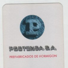 Coleccionismo Calendarios: CALENDARIO DE BOLSILLO HERACLIO FOURNIER AÑO 1975 POSTENSA PREFABRICADOS DE HORMIGÓN. Lote 143357834