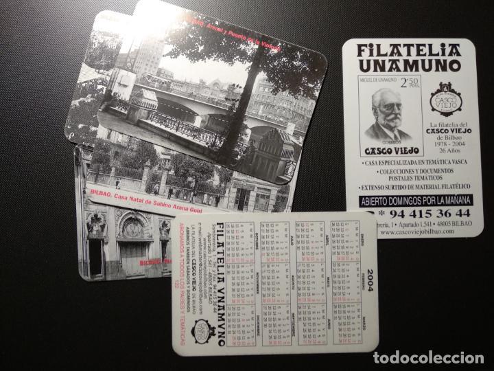 LOTE 6 CALENDARIOS 2004 FILATELIA UNAMUNO. BILBAO (Coleccionismo - Calendarios)