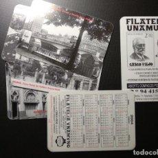 Coleccionismo Calendarios: LOTE 6 CALENDARIOS 2004 FILATELIA UNAMUNO. BILBAO. Lote 143598954