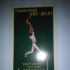 Coleccionismo Calendarios: FOURNIER FRONTON JALAI-ALAI ZARAGOZA 1967. Lote 143611214