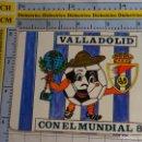 Coleccionismo Calendarios: CALENDARIO DE BOLSILLO AÑO 1982 MUNDIAL FÚTBOL ESPAÑA 82 COPA MUNDO. NARANJITO CON REAL VALLADOLID. Lote 160942188