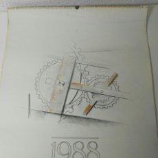 Coleccionismo Calendarios: CALENDARIO DE PARED TABACALERA AÑO 88. ILUSTRACIONES CALDERÓN JACOME. Lote 143928630