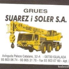 Coleccionismo Calendarios: CALENDARIO DE BOLSILLO PUBLICITARIO AÑO 2002 CAMIÓN - GRUA - PUBLICIDAD DE IGUALADA. Lote 143929974