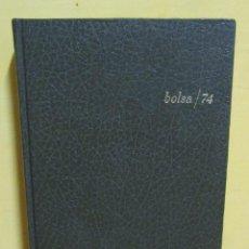 Coleccionismo Calendarios: AGENDA AÑO 1974 BANCO INDUSTRIAL DE CATALUÑA BOLSA/74 CONSEJOS PARA INVERSION Y AGENDA POR DIA NUEVA. Lote 143942542