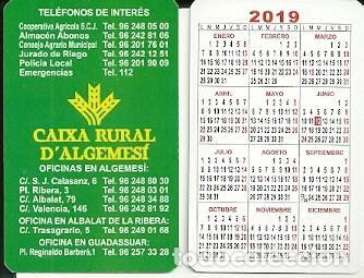 Calendario Valencia 2019.Calendario Publicitario Caixa Rural D Algemesi Sold Through
