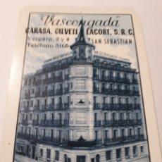 Coleccionismo Calendarios: CALENDARIO SEGUROS VASCONGADA FOURNIER 1965. Lote 144384064