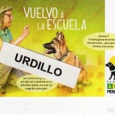 Coleccionismo Calendarios: CALENDARIO BOLSILLO - FUNDACIÓN ONCE PERRO GUÍA - AÑO 2019. Lote 151914740