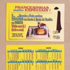 Coleccionismo Calendarios: CALENDARIO EDITADO EN PORTUGAL- AÑO 2005 - CAPA NEGRA. Lote 144441538