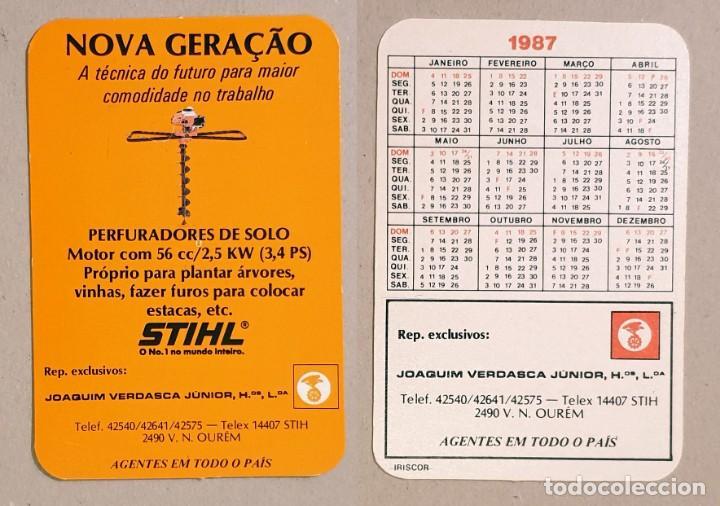 Calendario Stihl.Calendario Editado En Portugal Ano 1987 Stihl