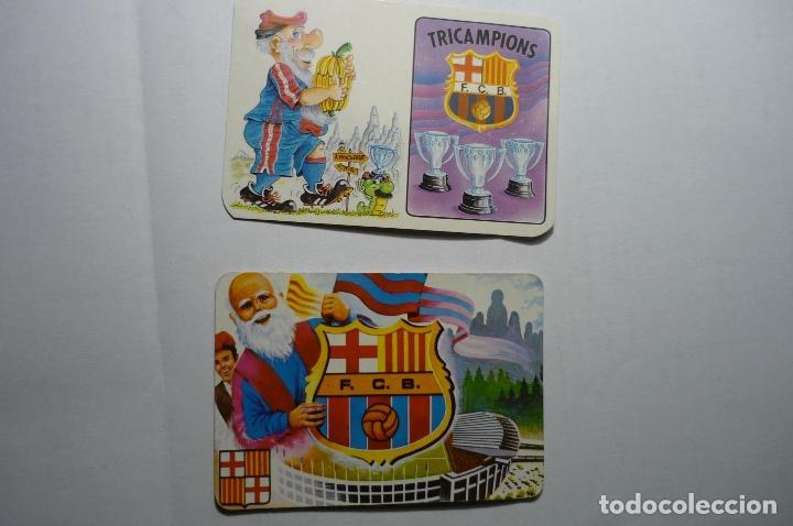 LOTE CALENDARIOS FUTBOL BARCELONA FC 1985-1994 (Coleccionismo - Calendarios)