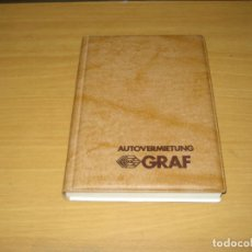 Collezionismo Calendari: AUTOVERMIETUNG GRAF AGENDA 1982. MUY BUEN ESTADO. ALEMÁN. Lote 144982394
