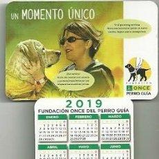 Coleccionismo Calendarios: CALENDARIO PUBLICITARIO. FUNDACIÓN ONCE PERRO GUÍA. AÑO 2019. Lote 147596404