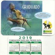Coleccionismo Calendarios: CALENDARIO PUBLICITARIO. FUNDACIÓN ONCE PERRO GUÍA. AÑO 2019. Lote 147596410