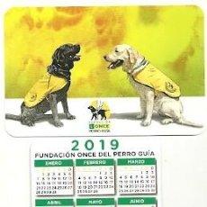 Coleccionismo Calendarios: CALENDARIO PUBLICITARIO. FUNDACIÓN ONCE PERRO GUÍA. AÑO 2019. Lote 147596425
