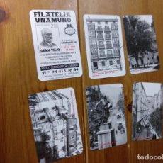 Coleccionismo Calendarios: LOTE 6 CALENDARIOS 2009 FILATELIA UNAMUNO BILBAO. Lote 145399254