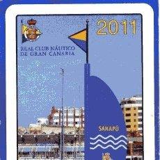 Coleccionismo Calendarios: FOURNIER, REAL CLUB NAUTICO DE GRAN CANARIA 2011. Lote 145766930