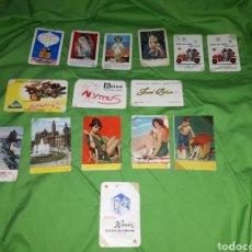 Coleccionismo Calendarios: LOTE 15 CALENDARIOS BOLSILLO AÑOS 60 SEIS DE ELLOS FOURNIER. Lote 145932778