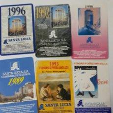 Coleccionismo Calendarios: 6 CALENDARIOS BOLSILLO FOURNIER SEGUROS SANTA LUCIA. Lote 145916866