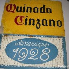 Coleccionismo Calendarios: CALENDARIO 1928 ** QUINADO CINZANO **. Lote 146238826