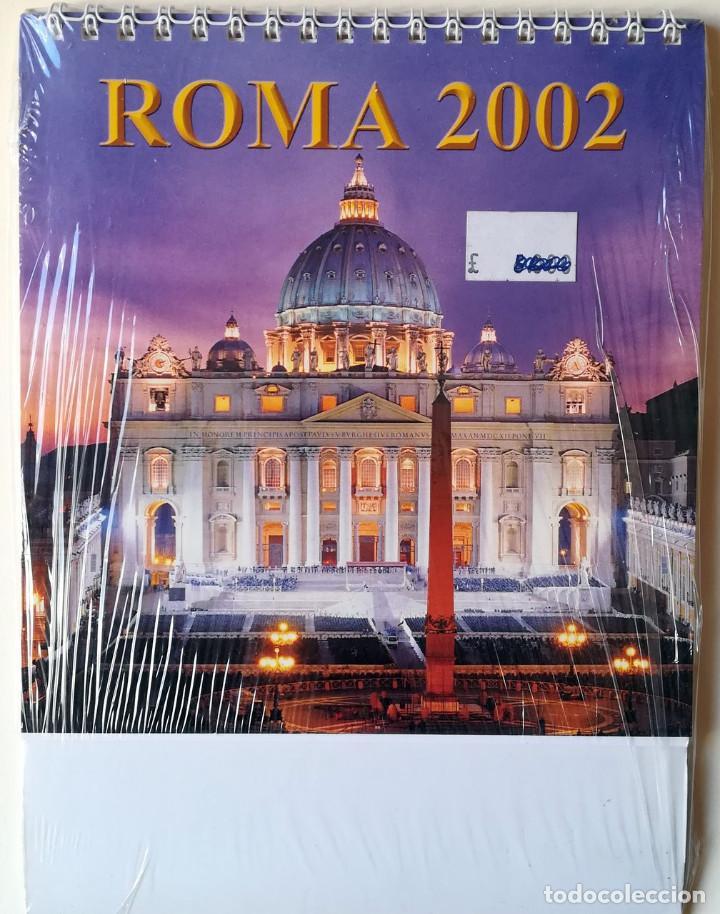 ALMANAQUE DE MESA. ROMA 2002. 12 VISTAS (Coleccionismo - Calendarios)