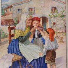 Coleccionismo Calendarios: CHOCOLATE RIUCORD. CALENDARIO 1937 Y CARTEL PUBLICIDAD.- 50X35 CM. PERFECTO. Lote 146641314
