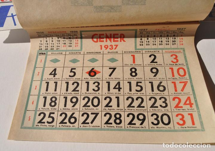 Calendario 1937.Chocolate Riucord Calendario 1937 Y Cartel Publicidad 50x35 Cm Perfecto