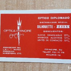 Coleccionismo Calendarios: CALENDARIO FOURNIER OPTICA PRINCIPE AÑO 1974 - NUEVO - VER FOTO ADICIONAL. Lote 146646434