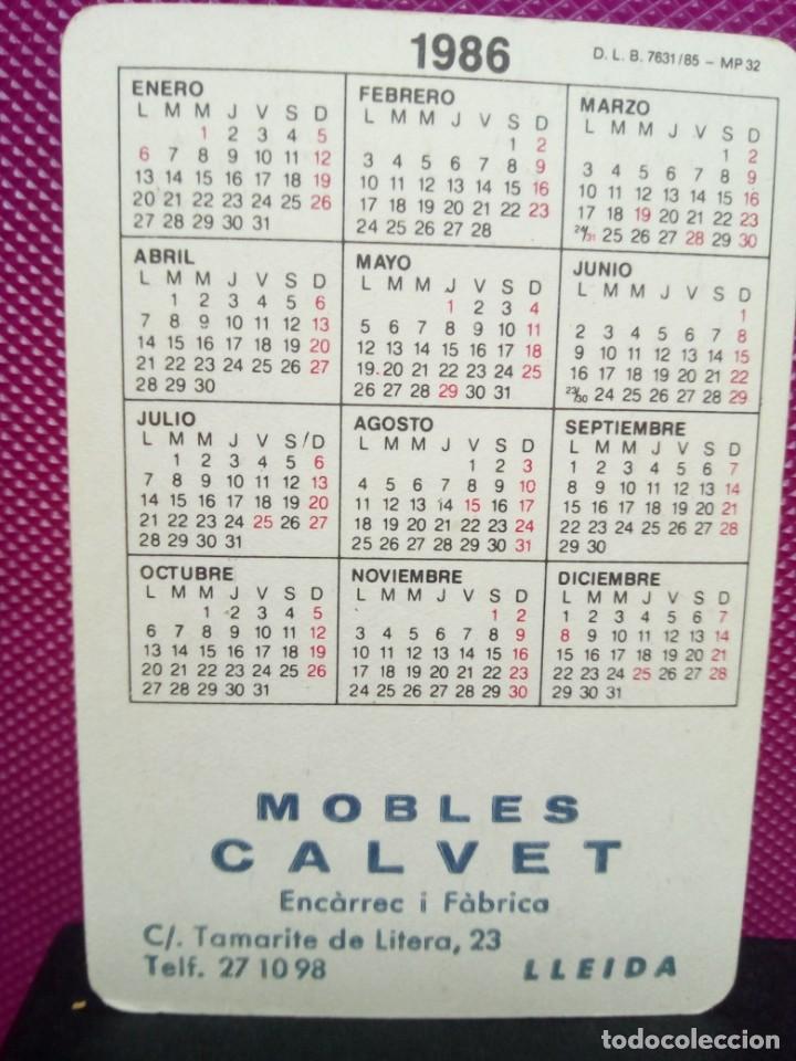 Coleccionismo Calendarios: CALENDARIO DE BOLSILLO AÑO 1986 COCHE ANTIGUO PUBLICIDAD LLEIDA - Foto 2 - 146683394