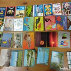 Coleccionismo Calendarios: 30 CALENDARIOS PUBLICIDAD EXTRANJEROS LOS DE LA FOTO. Lote 146980830