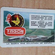 Coleccionismo Calendarios: CALENDARIO FOURNIER FAGOR AÑO 1963 - MBE - VER FOTO ADICIONAL. Lote 155169874