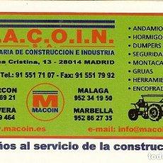 Coleccionismo Calendarios: CALENDARIO FOURNIER MACOIN AÑO 2006. Lote 179688188