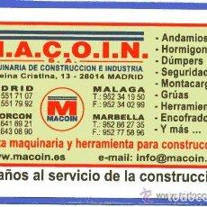 Coleccionismo Calendarios: CALENDARIO FOURNIER MACOIN AÑO 2008. Lote 147599518