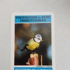 Coleccionismo Calendarios: CALENDARIO BOLSILLO - ICONA - PROTECCIÓN AVES INSECTÍVORAS - HERRERILLO COMÚN - FOURNIER - AÑO 1974. Lote 147970418