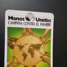 Coleccionismo Calendarios: CALENDARIO PUBLICITARIO DE BOLSILLO. MANOS UNIDAS. 1989. Lote 148614666