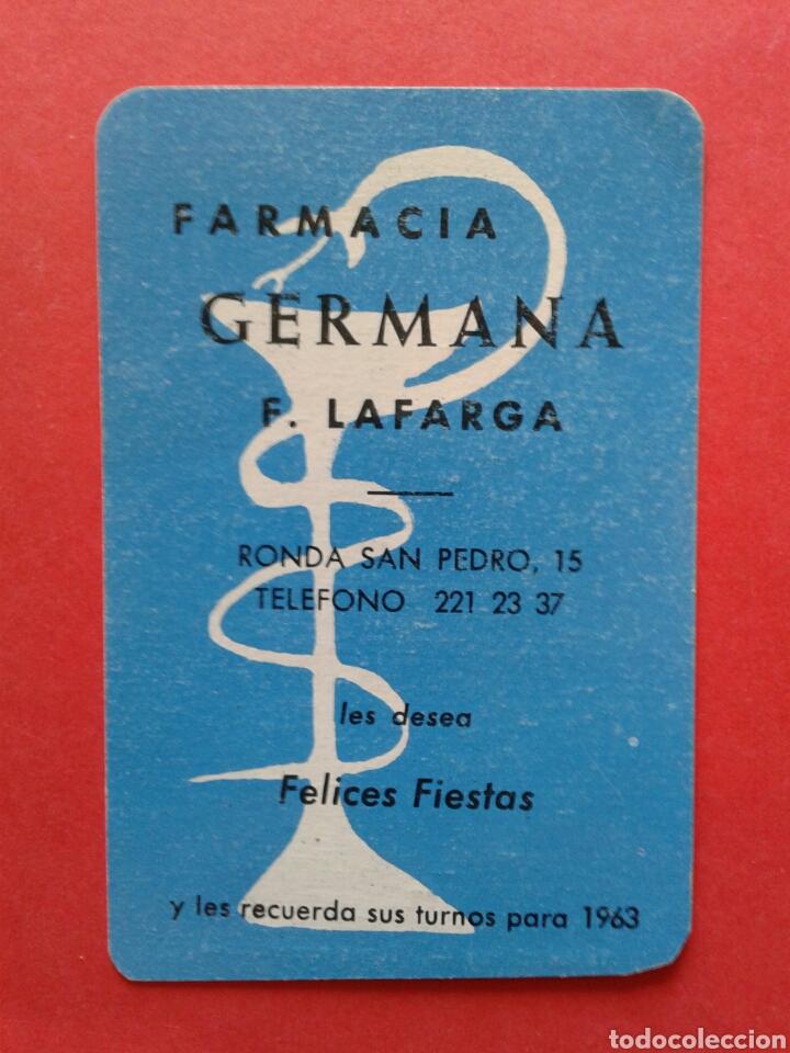 CALENDARIO FARMACIA GERMANA 1963 (Coleccionismo - Calendarios)