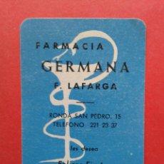 Coleccionismo Calendarios: CALENDARIO FARMACIA GERMANA 1963. Lote 149305618