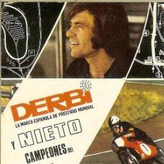 Collezionismo Calendari: CALENDARIO PUBLICITARIO - 1972 - DERBI - ANGEL NIETO. Lote 149476210