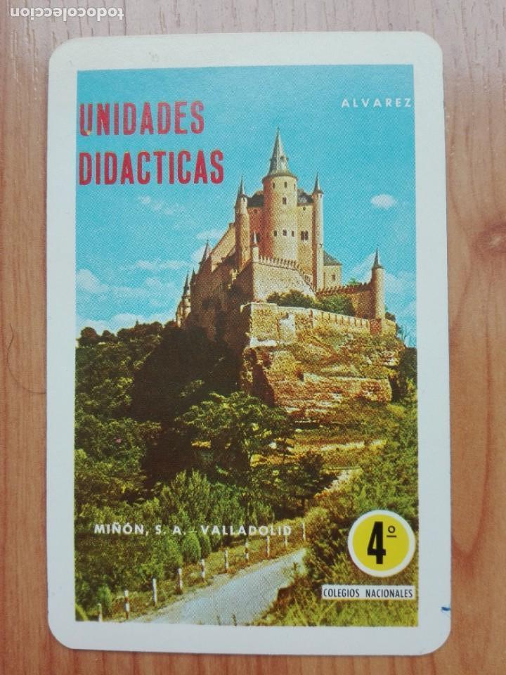 CALENDARIO FOURNIER 1970 UNIDADES DIDACTICAS ALVAREZ-EDITORIAL MIÑON VALLADOLID (Coleccionismo - Calendarios)