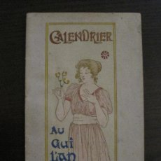 Coleccionismo Calendarios: CALENDARIO MODERNISTA-CALENDRIER AU GUI LIAN NEUF-M.P.VERNEUIL ILUSTRADOR-VER FOTOS-(V-15.914). Lote 150011238