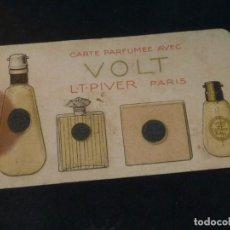 Coleccionismo Calendarios: TARJETA ANTIGUA PUBLICIDAD PERFUME VOLT CALENDARIO 1924-25 LT PIVER PARIS ORIGINAL. Lote 150702986