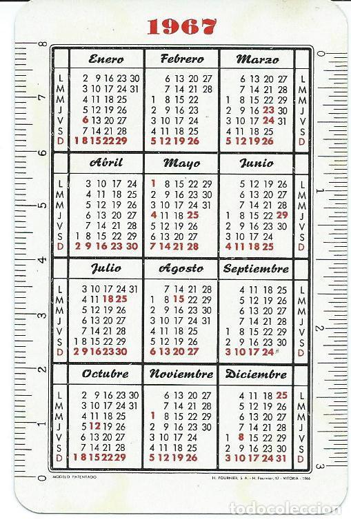 Coleccionismo Calendarios: CALENDARIO CAJA CIRCULO CATOLICO DE FOURNIER AÑO 1967 - Foto 2 - 150796730