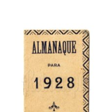 Coleccionismo Calendarios: CALENDARIO ALMANAQUE PUBLICIDAD IMPRENTA MODERNA JOAQUÍN CHAMORRO. LEÓN AÑO 1928. Lote 150826778