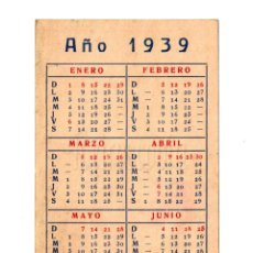 Coleccionismo Calendarios: CALENDARIO ALMANAQUE PUBLICIDAD IMPRENTA MODERNA LEÓN AÑO 1939. Lote 150827022