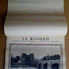 Coleccionismo Calendarios: CALENDARIO VALENCIA ANTIGUA. FABRICA ANISADOS LA REGIONAL,BERNARDO VILA E HIJOS, VALENCIA. AÑO 1947. Lote 150935034