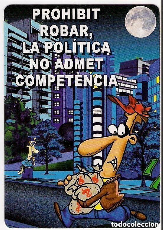 -70984 CALENDARIO HUMOR POLITICO, LADRONES, AÑO 2017, SERIE CB 232, CON PUBLICIDAD, DIBUJO (Coleccionismo - Calendarios)