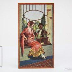 Coleccionismo Calendarios: ANTIGUO CALENDARIO DE BOLSILLO - PAREJA DE ANDALUCES - AÑO 1938. Lote 150965646