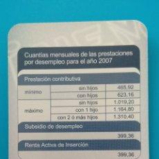 Coleccionismo Calendarios: CALENDARIO INEM 2007. Lote 151229465