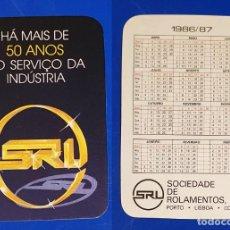 Coleccionismo Calendarios: CALENDARIO EDITADO EN PORTUGAL - AÑO 1986 - SOCIEDADE DE ROLAMENTOS, LDA.. Lote 151346942