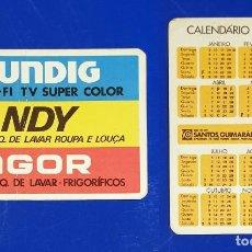 Coleccionismo Calendarios: GRUNDIG - CANDY - FAGOR - CALENDARIO EDITADO EN PORTUGAL - AÑO 1982. Lote 151347022