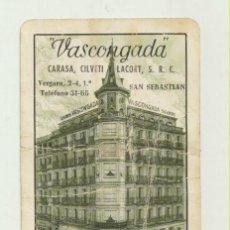 Coleccionismo Calendarios: CALENDARIO FOURNIER. SEGUROS VASCONGADA 1961. Lote 151671965